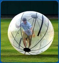 Human Hamster Balls Race